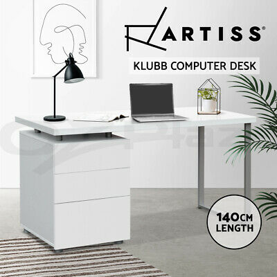 AU219.90 • Buy Artiss Office Computer Desk Study Table Home Metal Student Drawer Cabinet White