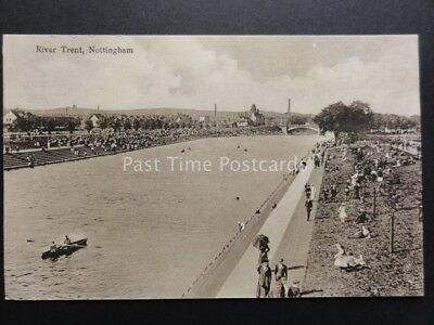 £5 • Buy Nottingham: River Trent - Showing Busy Animated Scene - Old Postcard