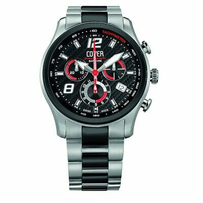 Cover Men's Watch Chronograph Swiss Made Co135.BI1M/R New • 366.89£