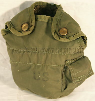 $ CDN5.72 • Buy USGI Military OD Olive Drab 1 QT QUART CANTEEN COVER Pouch With Alice Clips FAIR