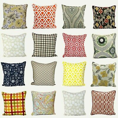 100% Cotton Cushion Covers Luxurious Beautiful Soft Stylish Printed Cases 20x20  • 9.99£
