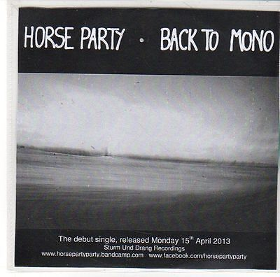 £2.99 • Buy (EE642) Horse Party, Back To Mono - 2013 DJ CD