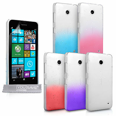 Yousave Accessories For The Nokia Lumia 630 Stylish Rain Drop Hard Case Cover • 2.99£