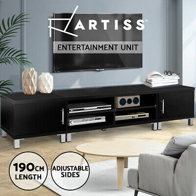 AU199.95 • Buy Artiss TV Cabinet Stand Entertainment Unit Black Storage Lowline 190CM