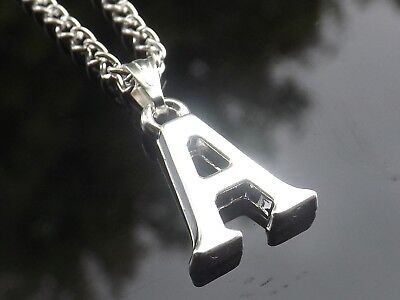 £2 • Buy 16-30 Inch Long Silver Plated Initial Letter Alphabet A - Z Pendant Necklace