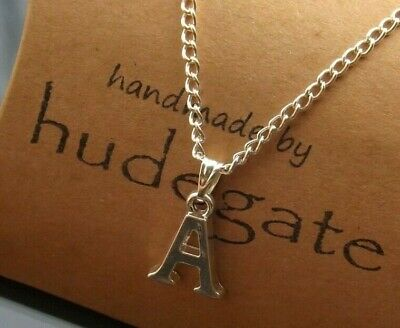 £2.50 • Buy Personalised Initial Necklace 16-30 Inch Long With Silver Plated Letter Pendant