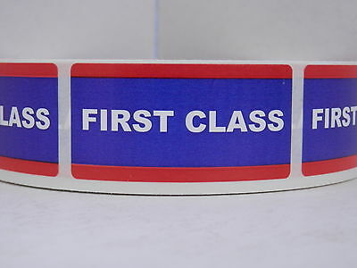 $15.25 • Buy FIRST CLASS USPS 1x2 Stickers Labels Mailing Shipping 250/rl