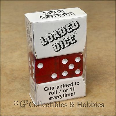 NEW Loaded Trick Transparent Red Dice Set Mis-Spotted 2, 5, 6 Only Not Weighted • 3.82£