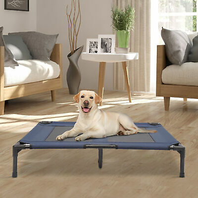 $42.99 • Buy Portable Large Dog Cat Elevated Bed Camping Pet Cot Indoor/Outdoor Blue