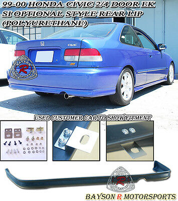 $79.99 • Buy Si Optional TR-Style Rear Lip (Urethane) Fit 99-00 Honda Civic 2/4dr Coupe/Sedan