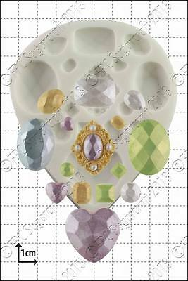 Silicone Mould Multi Gem | Food Use FPC Sugarcraft FREE UK Shipping! • 11.50£