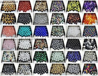 $ CDN1.49 • Buy Natural Gemstone Round Spacer Loose Beads 4mm 6mm 8mm 10mm 12mm Assorted Stones