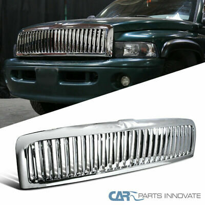 $78.95 • Buy For 94-01 Ram 1500 94-02 Ram 2500 3500 Pickup Vertical Chrome ABS Front Grille