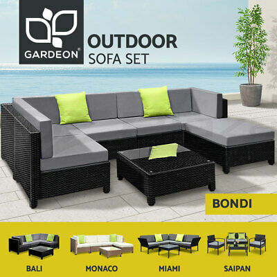 AU469.95 • Buy Gardeon Outdoor Sofa Lounge Setting Patio Furniture Wicker 3-7pcs Garden Chairs