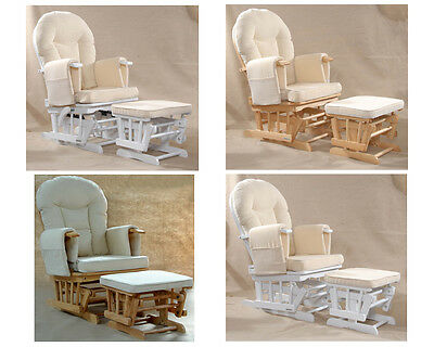 Sereno (natural Wood Or White) Nursing Glider Maternity Rocking Chair • 189.99£