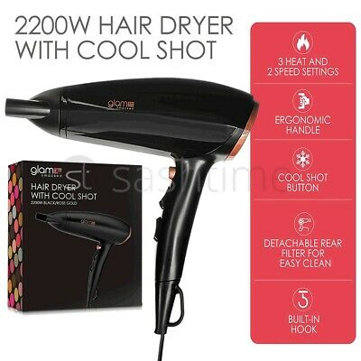 £14.95 • Buy 2200W Professional Style Hair Dryer Nozzle Concentrator Blower Pro Salon Heat UK