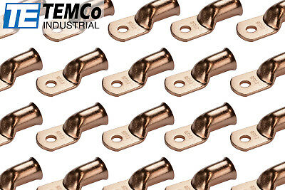 AU50.51 • Buy 25 Lot 4/0 5/16  Hole Ring Terminal Lug Bare Copper Uninsulated AWG Gauge