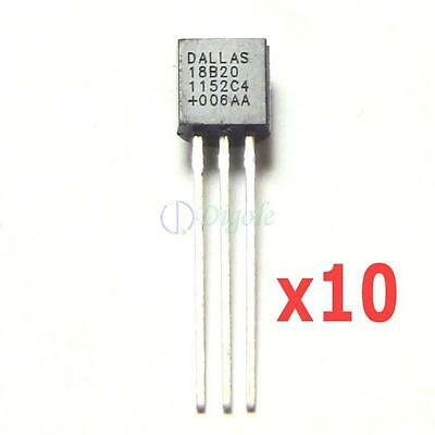10 PC Dallas DS18B20 DS1820 18B20 1820 1-Wire Digital Thermometer For Arduino • 11.30£