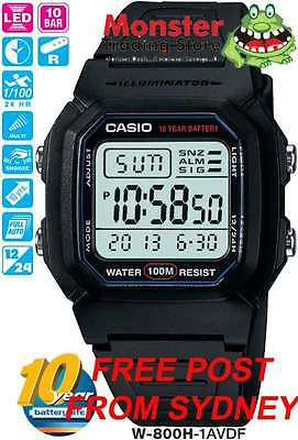 AU36 • Buy Casio Watch Swimming 100 Metres Water Resistant Vintage Retro W-800h-1av