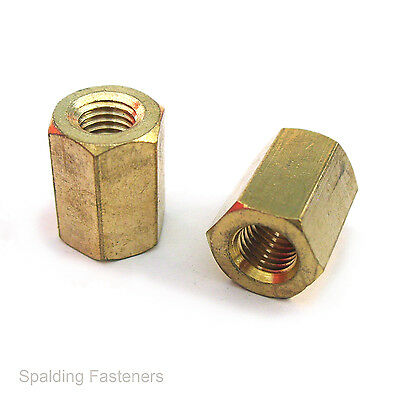 Brass UNC UNF & BSF Manifold Exhaust Extra Long Nuts MG MGB MIDGET And More • 4.64£