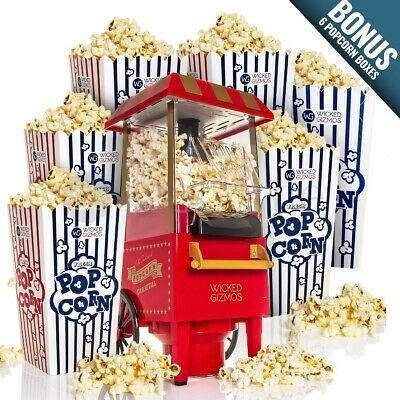 Fat-Free Hot Air Carnival Popcorn Maker Popper Machine Retro 30's Style Healthy  • 29.95£