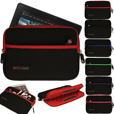 Bubble Lined Neoprene Zipped Protective Sleeve Cover Case For Kindle Fire HD 7.0 • 7.95£