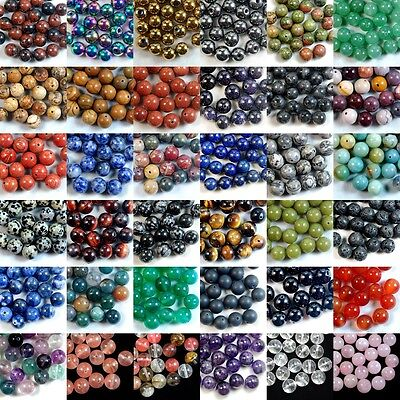 $5.65 • Buy Wholesale Lot Natural Gemstone Round Spacer Loose Beads 4mm 6mm 8mm 10mm 12mm