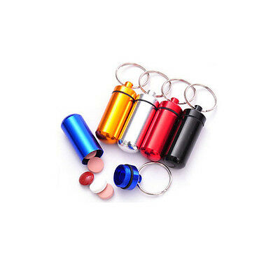 $2.99 • Buy  Aluminum Nitro Glycerin, Pill Case  Holder Container Capsule W/ Keychain