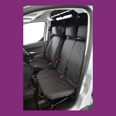 £56.75 • Buy Ford Transit Connect 2014-2018 Tailored Waterproof Front 3 Black Seat Covers