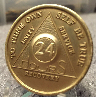 $1.59 • Buy Alcoholics Anonymous 24 Hour Recovery Coin Chip Medallion Medal Token AA Hours