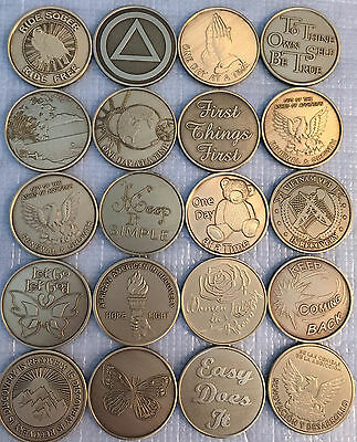 $29.84 • Buy Lot Of 20 Serenity Prayer Bronze Medallions AA Alcoholics Anonymous Chip Coins
