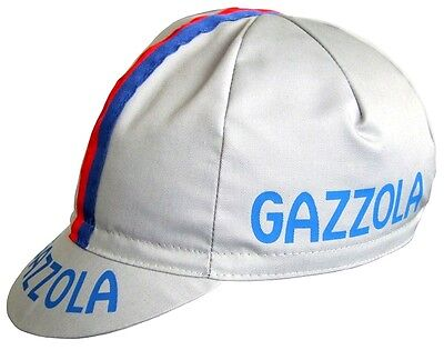 Gazzola Retro Vintage Cycling Team Summer Under Helmet Made Italy Bike Hat Cap  • 6.99£