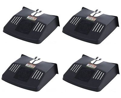 4 X Plastic Black Drain Grid Gutter Covers Protector Leaf Guard Outside • 11.99£