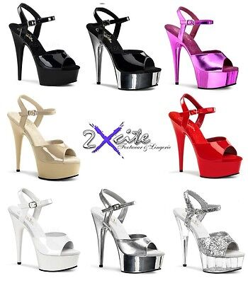 Pleaser Delight 609 Platform High Heel Pole Dancing Lap Dancer Stiletto Shoes • 51.25£