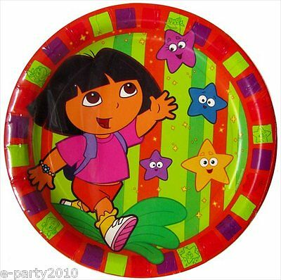 DORA THE EXPLORER Star Catcher LARGE PAPER PLATES (8) ~ Birthday Party Supplies • 3.08£