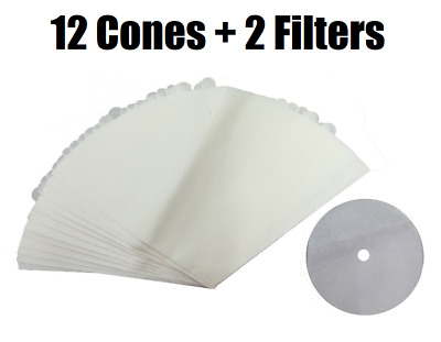 $7.92 • Buy 12 Filter Cones Bags For Filter Queen Majestic Vacuums Plus 2 Filters