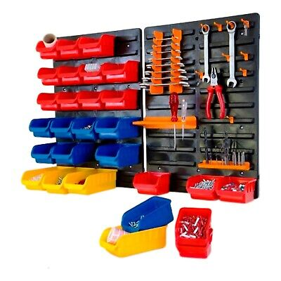 £24.50 • Buy NEW 43pc Plastic Parts Storage Bins Boxes & Tool Tidy Kit Shed Garage Workshop