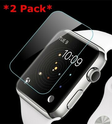 $ CDN5.02 • Buy 2X Premium Tempered Glass Screen Film Protector For Apple Watch 1/2/3 38 42mm