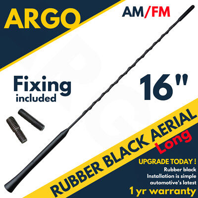 Black Rubber Roof Mount Car Van Aerial Antenna Mast Ariel Whip Wing Radio Stereo • 7.49£