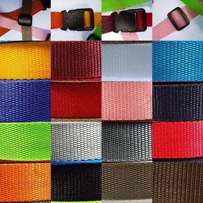 17 COLOUR Strong Thick Strap Webbing 25mm 30 38/40 & 50mm Nylon Bag Handle Belt  • 3.35£