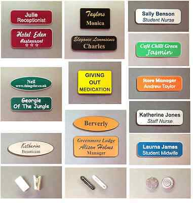 £1.95 • Buy Personal Or Business, Personalised Name Badges, Magnetic, Pin, Clip, Acrylic