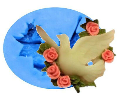 £5.03 • Buy Dove With Flower Silicone Mold For Fondant, Gum Paste, Chocolate, Craft
