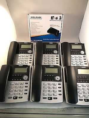 £195.95 • Buy Home Small Office PBX 308 Telephone System With 6 X Uniden Extension Phones-NEW