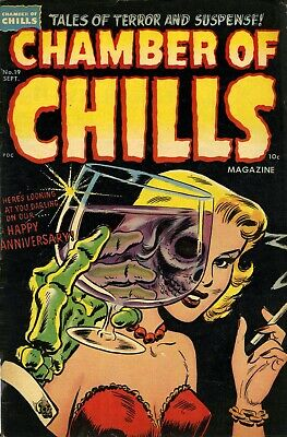 Chamber Of Chills (Harvey) 19 Comic Book Cover Art Giclee Reproduction On Canvas • 32.37£