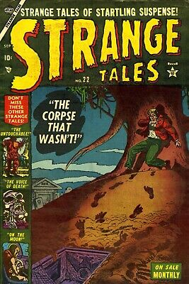 Strange Tales 22 Comic Book Cover Art Giclee Reproduction On Canvas • 32.37£