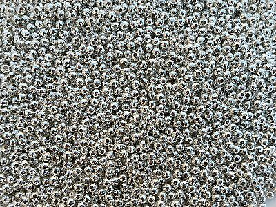 🎀 3 FOR 2 🎀 Silver Round Spacer Beads 2mm 3mm 4mm 5mm 6mm For Jewellery Making • 0.99£
