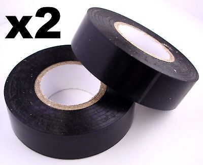 £3.39 • Buy 2x 20m Rolls Of High Quality PVC Electricians Electrical Insulation Tape BLACK