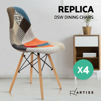 AU219.95 • Buy Artiss Retro Replica Eames DSW Dining Chairs Cafe Chair Kitchen Beech Fabric X4