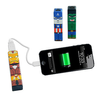 £9.99 • Buy Comic Hero USB Phone Charger For IPhone, Android HTC, Nokia And More! 2200mAh