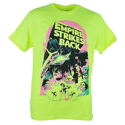 $13.73 • Buy Star Wars The Empire Strikes Back Darth Vader Cast Neon Yellow Tshirt Tee